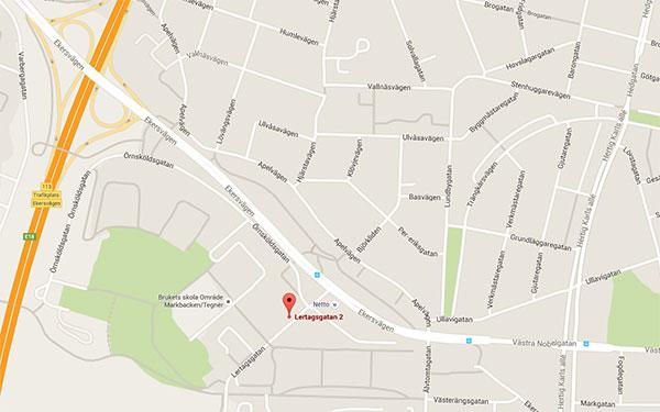 Tegelbruket på kartan
